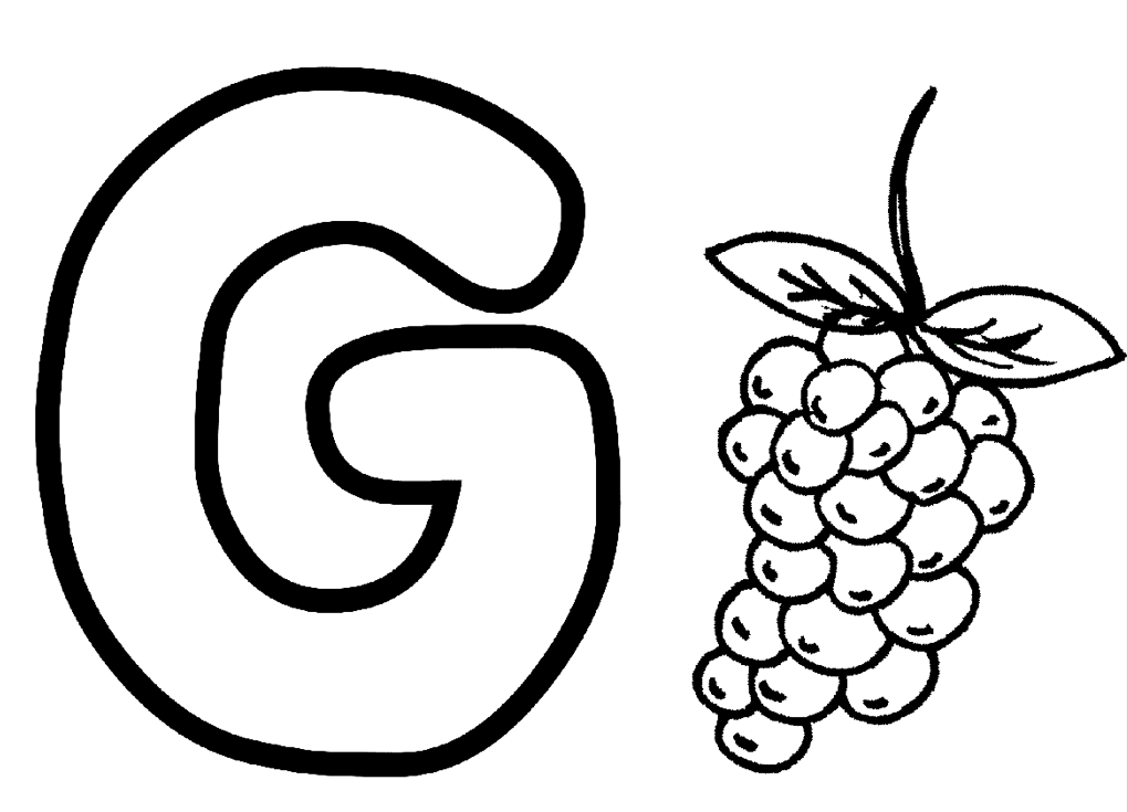 g coloring pictures letter g with plants coloring page free printable coloring g pictures