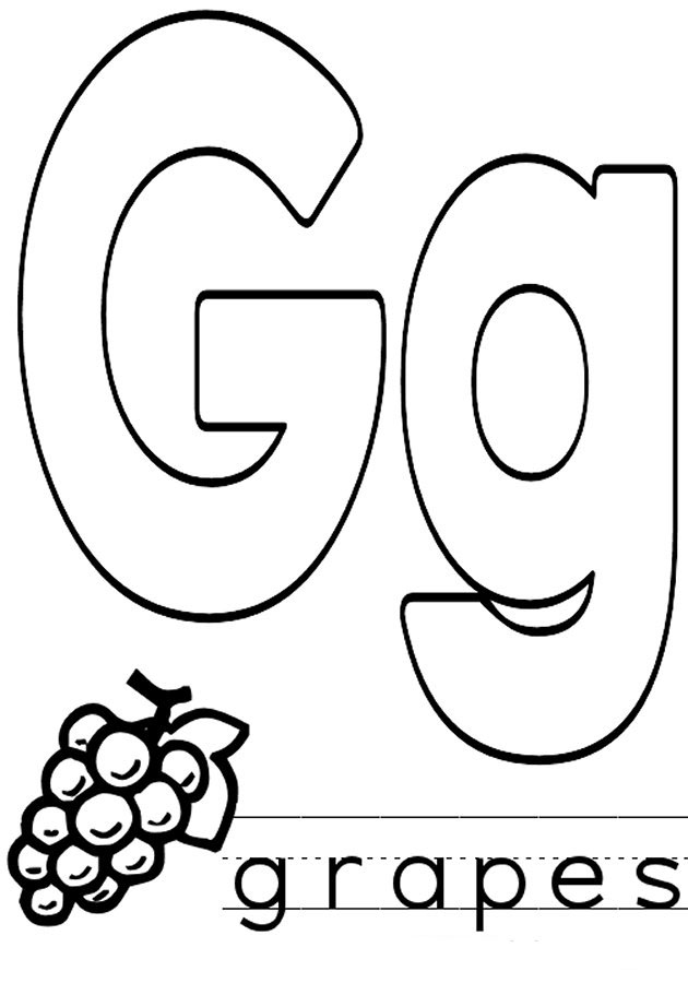 g coloring pictures printable alphabet coloring pages letters a j coloring pictures g