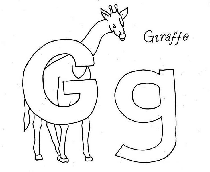 g is for giraffe g for giraffe on learning abc coloring page coloring sky for is giraffe g
