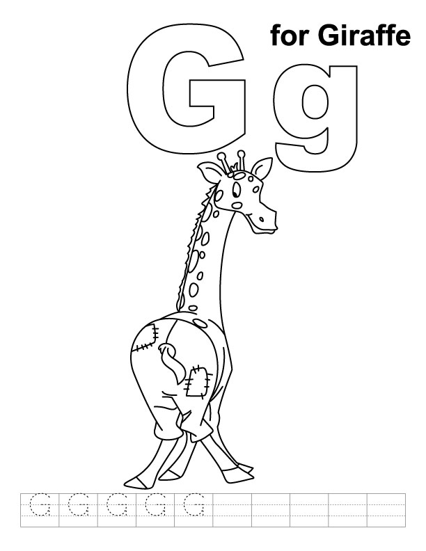 g is for giraffe letters with flowers coloring page free coloring pages is giraffe g for