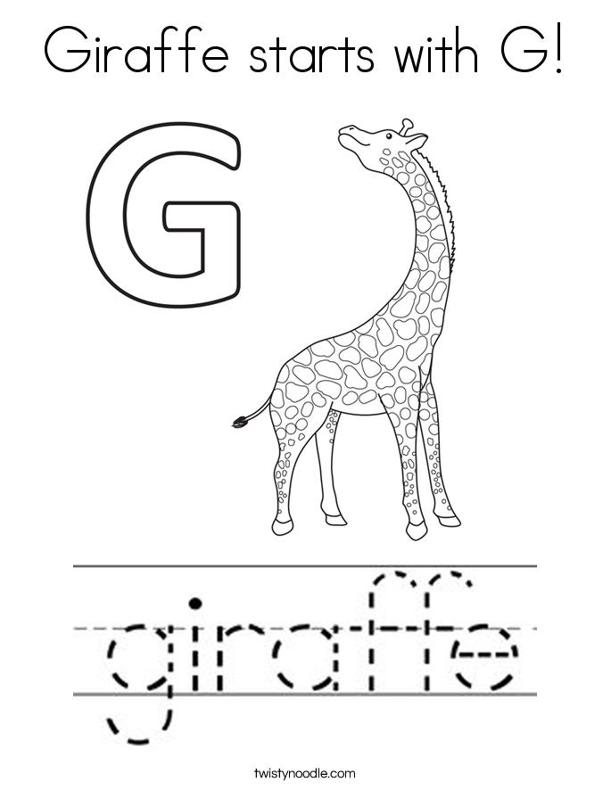 g is for giraffe the moxy show coloring pages learny kids is g giraffe for