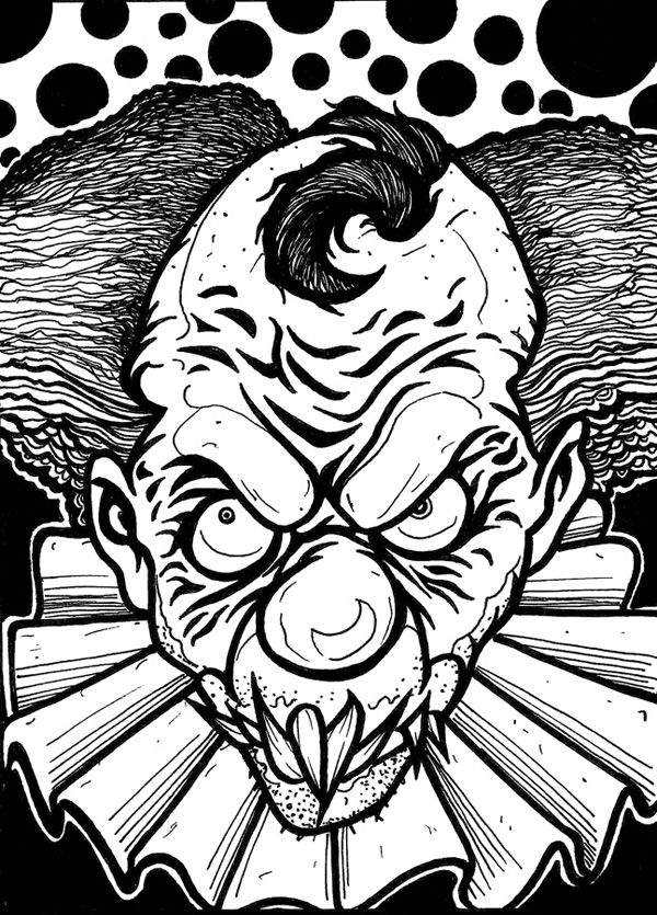 gangster scary clown coloring pages exercise evil clown coloring pages deartamaqua clipart scary clown coloring pages gangster