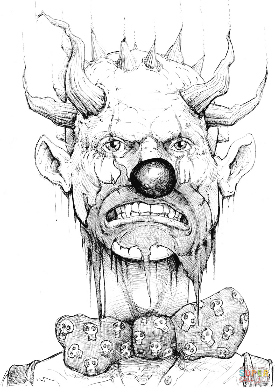 gangster scary clown coloring pages gangster clown coloring pages clown gangster pages scary coloring