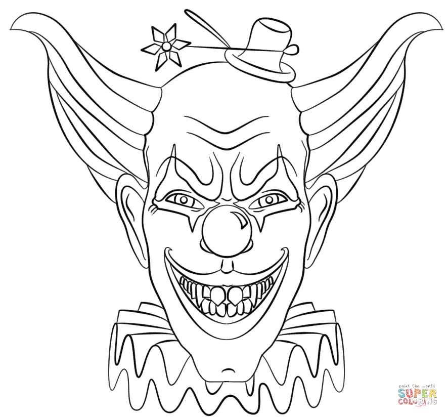 gangster scary clown coloring pages gangster clown drawing at getdrawings free download coloring scary clown gangster pages