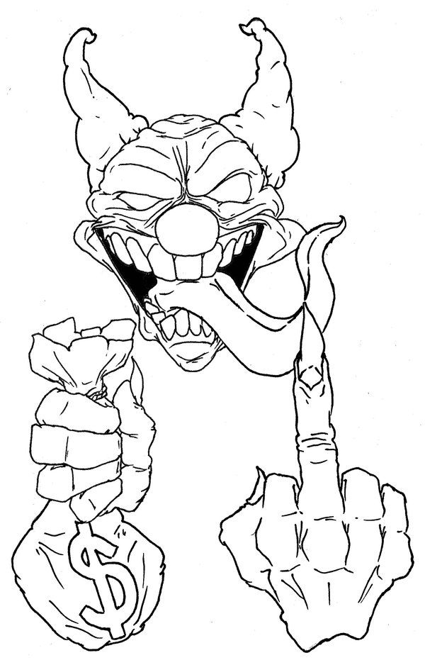 gangster scary clown coloring pages gangster clowns pages coloring pages scary coloring pages gangster clown