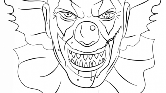 gangster scary clown coloring pages gangster clowns pages coloring pages scary gangster clown coloring pages