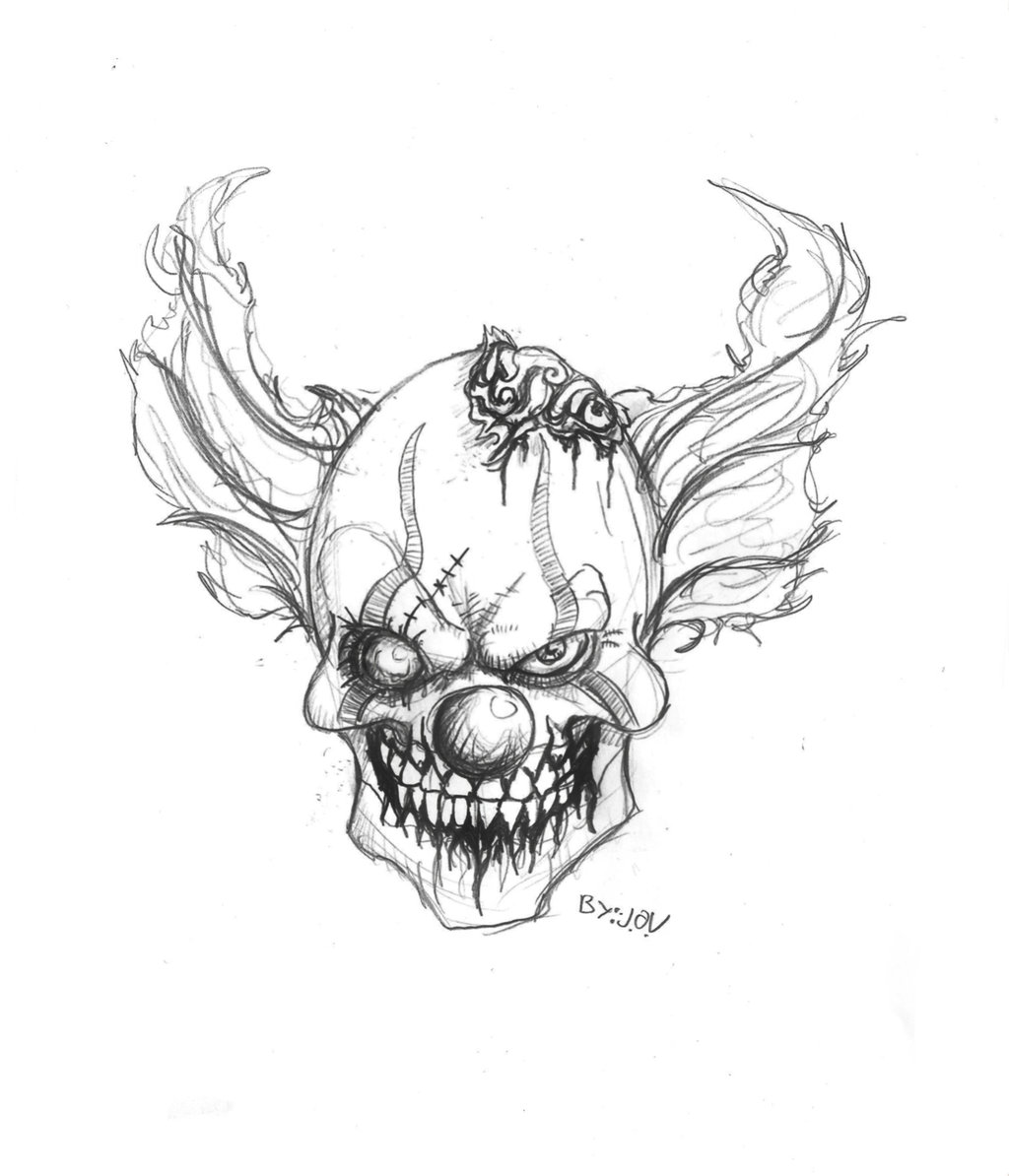 gangster scary clown coloring pages gangster drawing pictures at getdrawings free download gangster clown scary coloring pages
