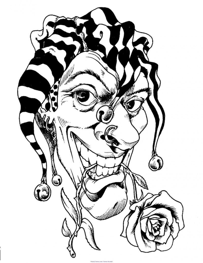 gangster scary clown coloring pages how to draw a killer klown step by step aliens sci fi pages scary gangster clown coloring