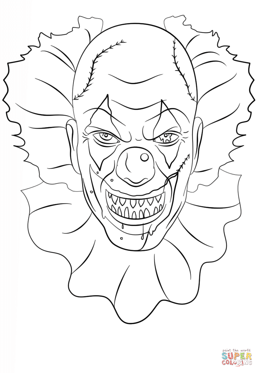 gangster scary clown coloring pages pennywise the clown coloring pages bing images clown pages coloring gangster scary