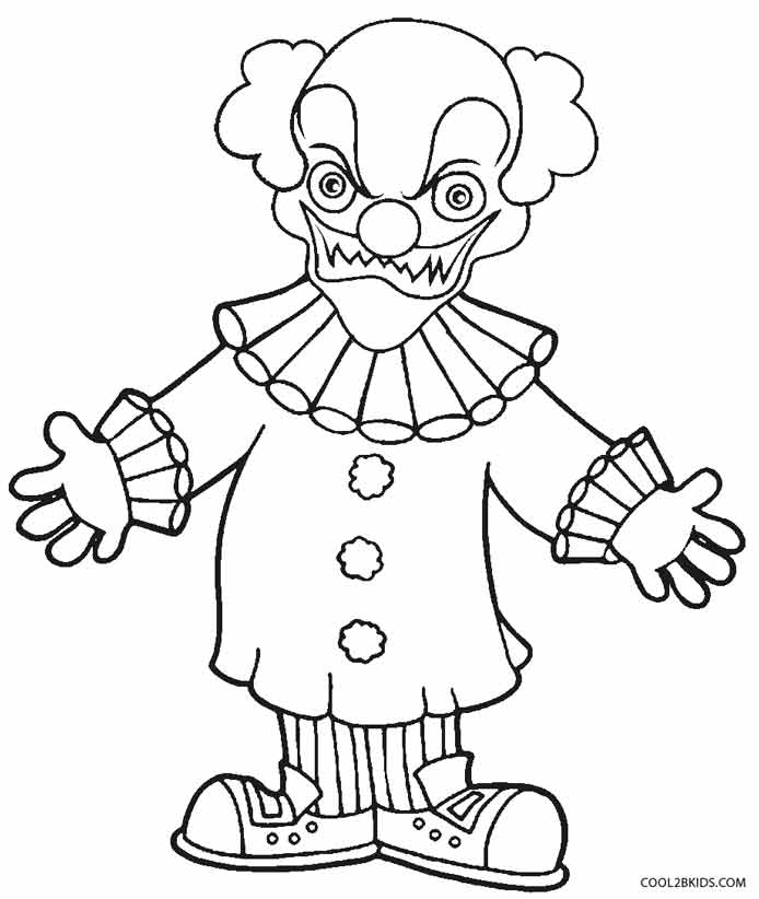 gangster scary clown coloring pages scary clown coloring page dessins effrayants dessin et pages clown gangster coloring scary
