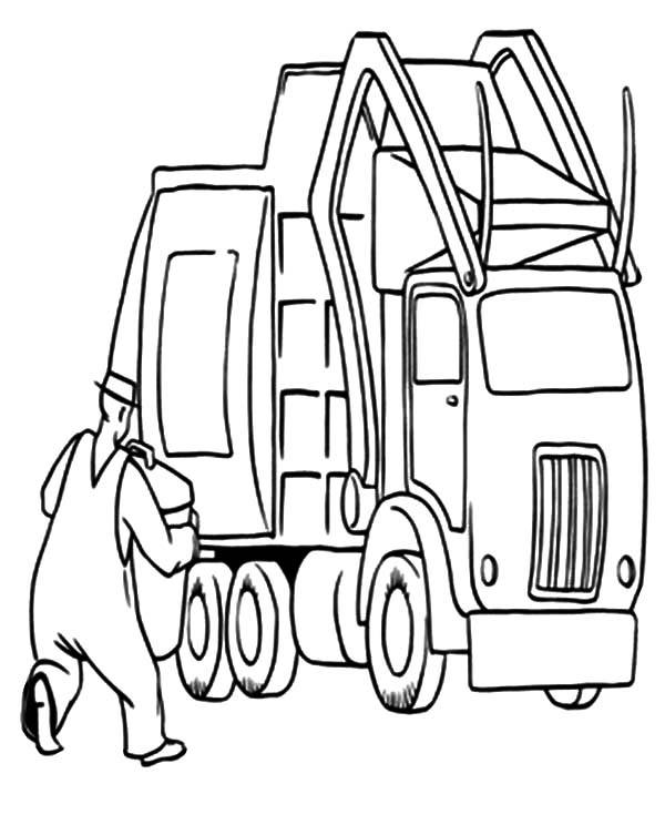 garbage truck drawing garbage truck daily activity coloring pages download garbage drawing truck