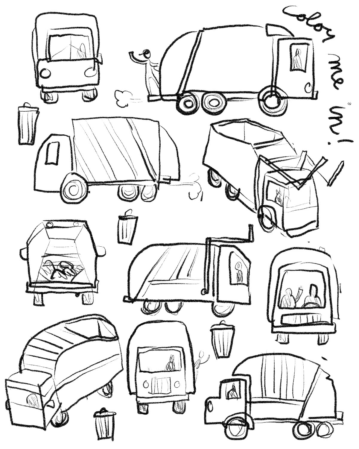 garbage truck drawing how to draw a garbage truck clipartsco truck drawing garbage