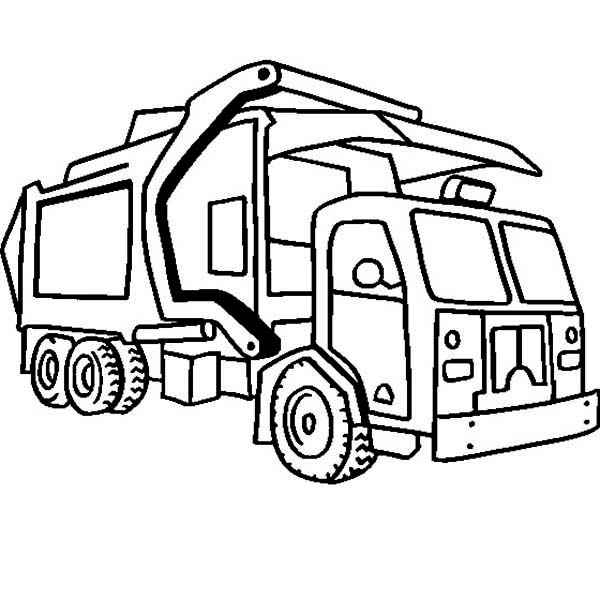 garbage truck drawing truck sketch drawing at getdrawings free download garbage truck drawing