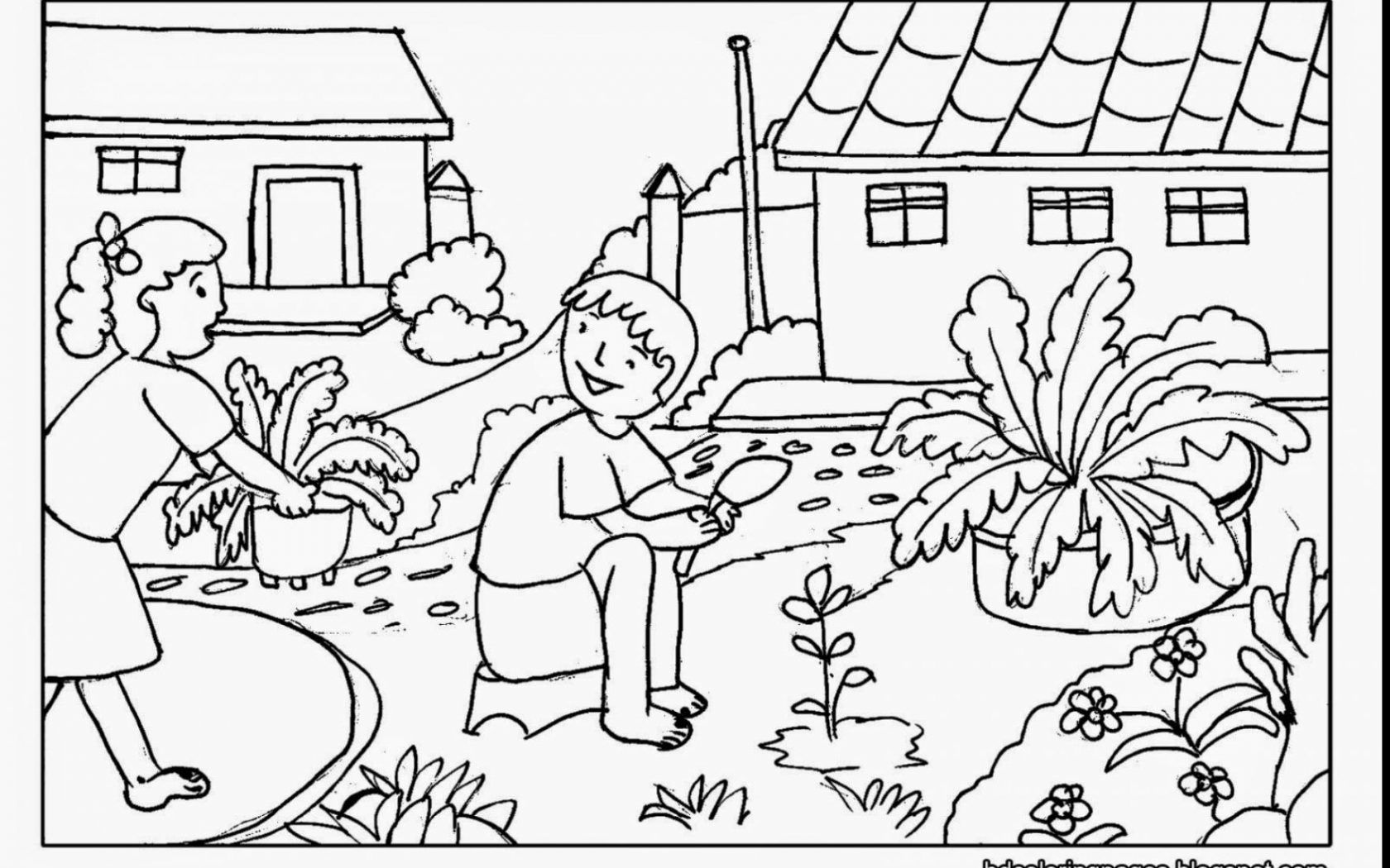 garden colouring pages let gardening gardening coloring pages pages colouring garden