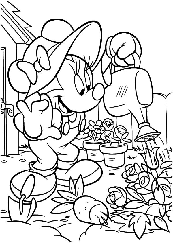 gardening pictures to colour gardener coloring pages learny kids gardening to pictures colour