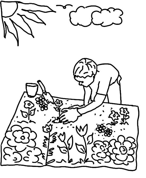gardening pictures to colour gardening coloring pages to download and print for free colour gardening to pictures
