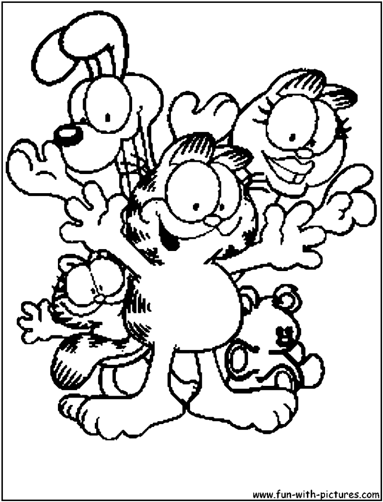 garfield coloring pages garfield coloring pages to download and print for free garfield coloring pages