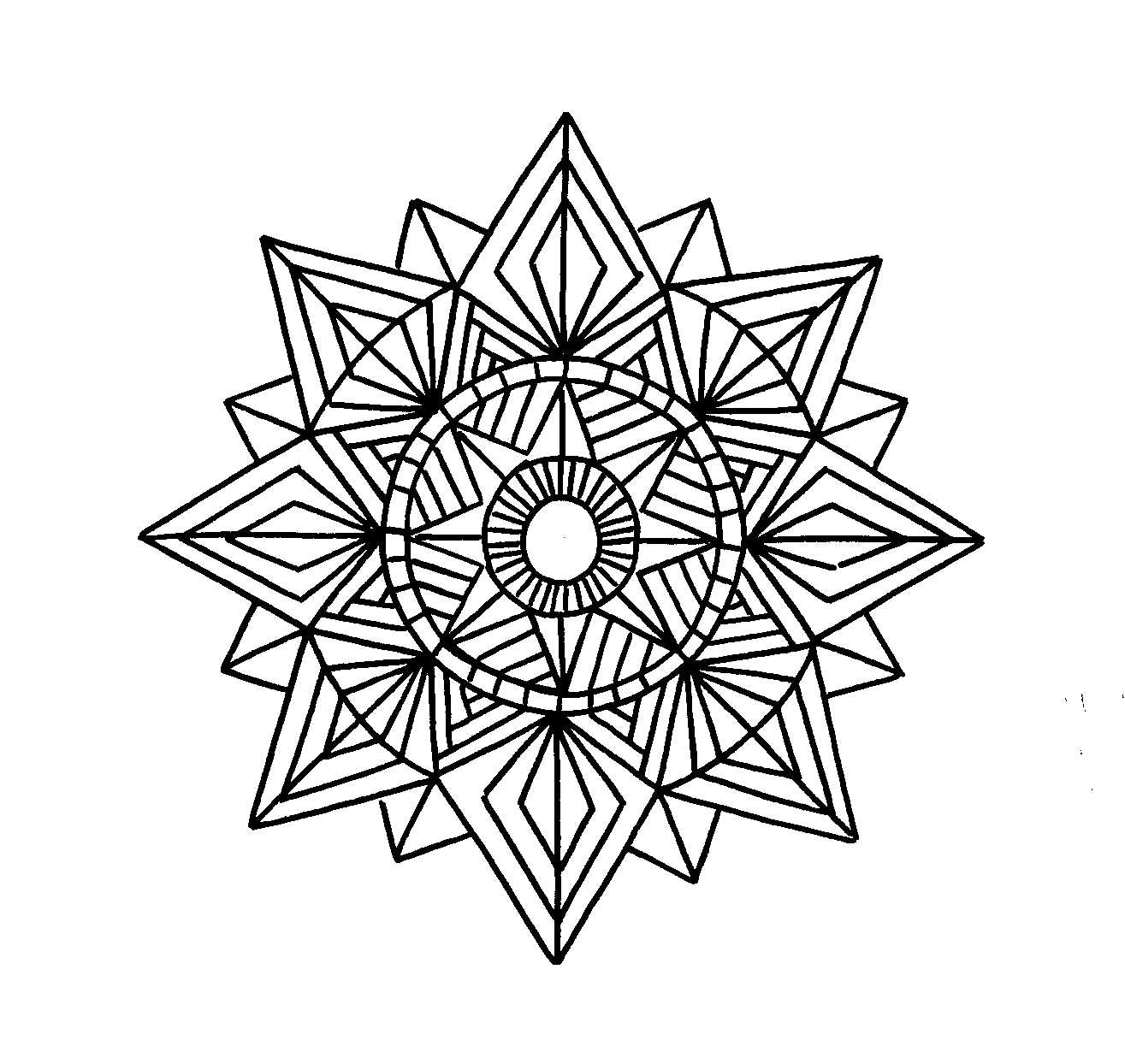 geometric color free printable geometric coloring pages for kids color geometric 1 1