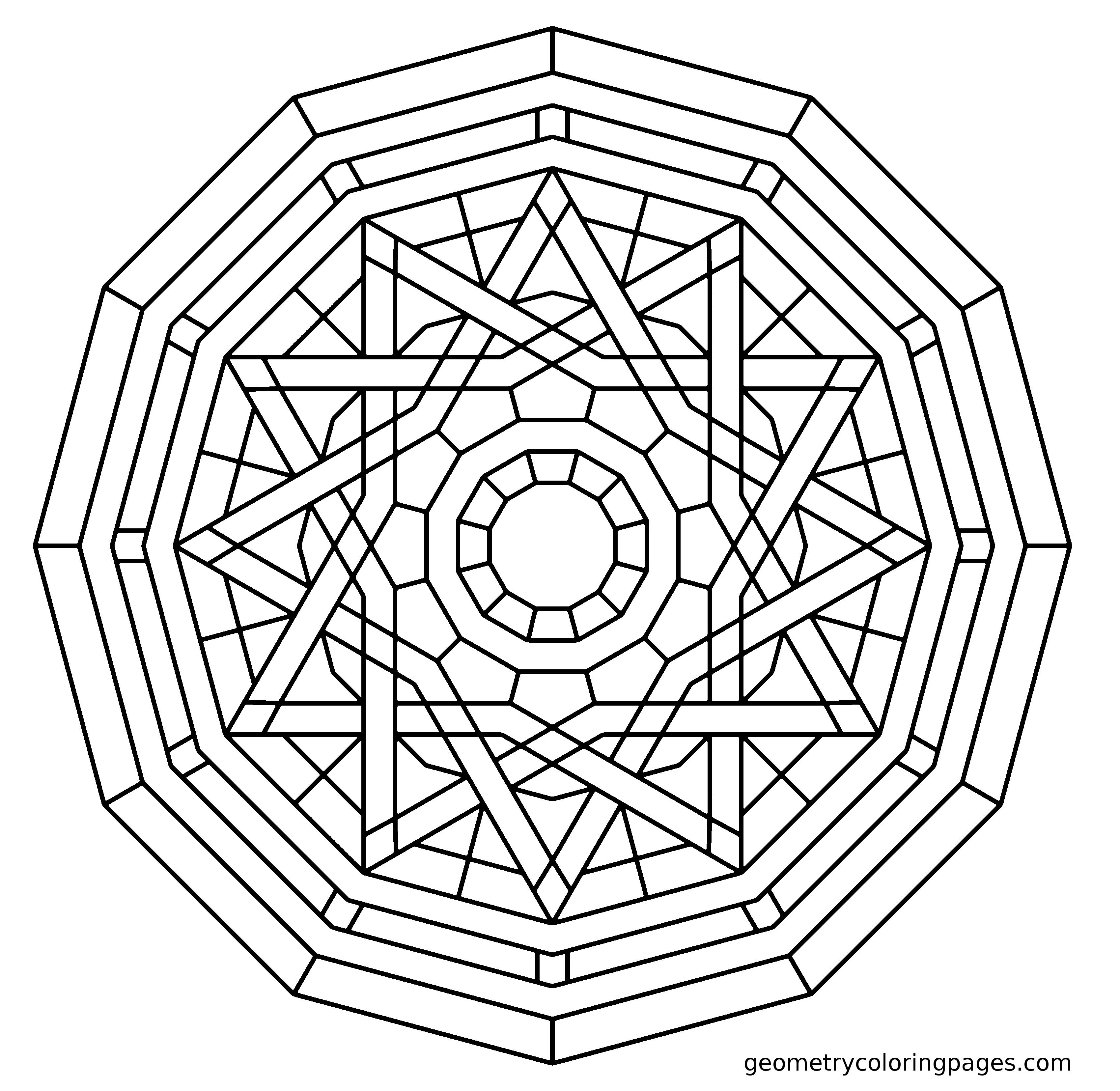 geometric color geometry coloring page elemental adult coloring pages geometric color