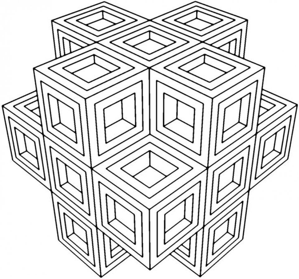 geometric pictures to color coloring pages geometric free printable coloring pages to pictures color geometric