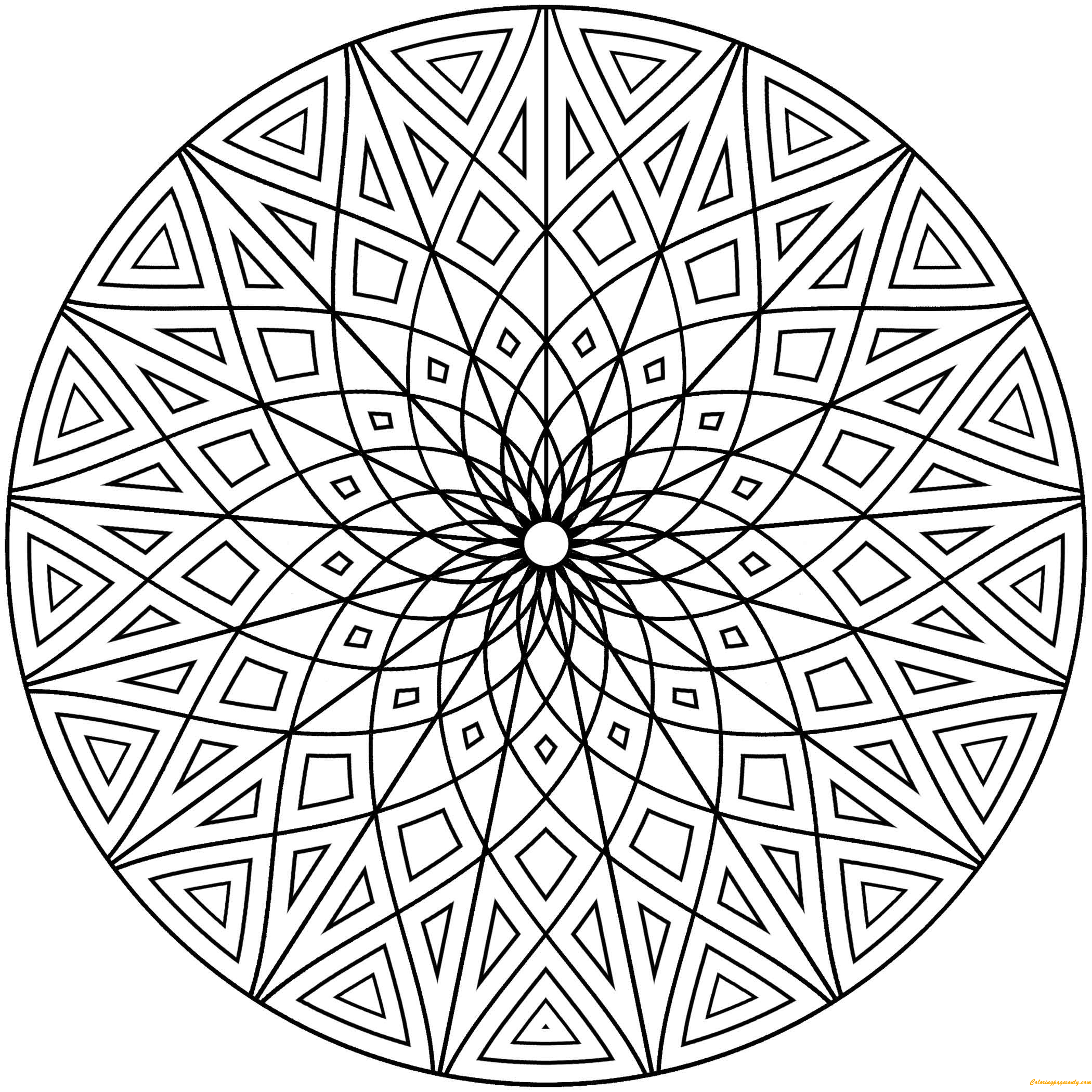 geometric pictures to color free printable geometric coloring pages for kids geometric pictures color to