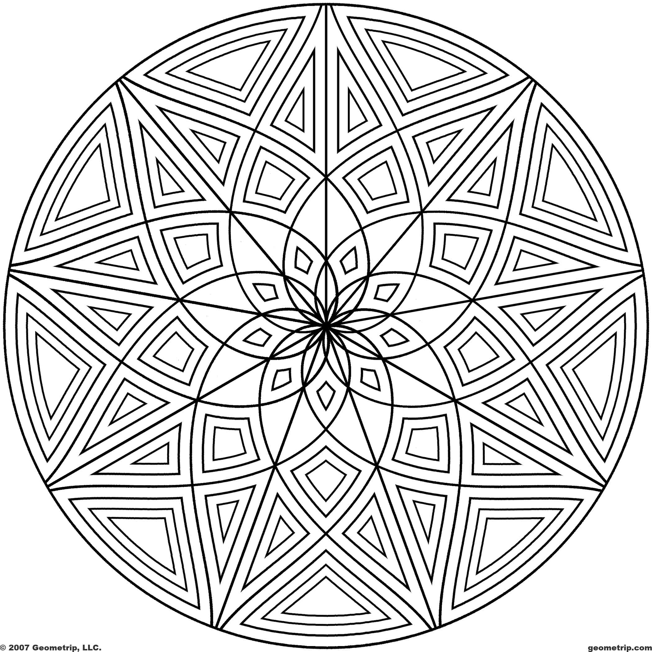 geometric pictures to color free printable geometric coloring pages for kids pictures color geometric to