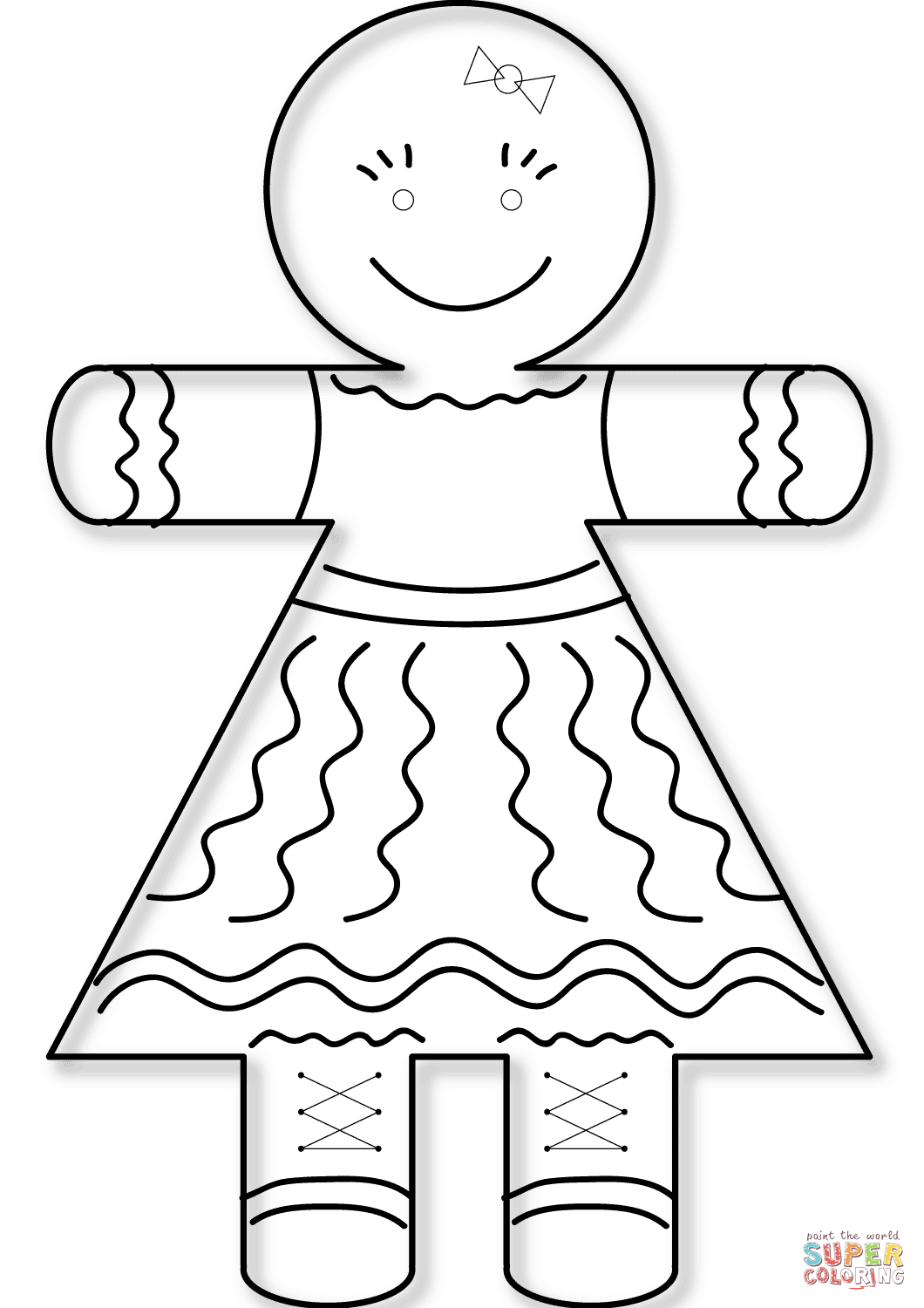 gingerbread girl template free printable gingerbread man coloring pages for kids template girl gingerbread