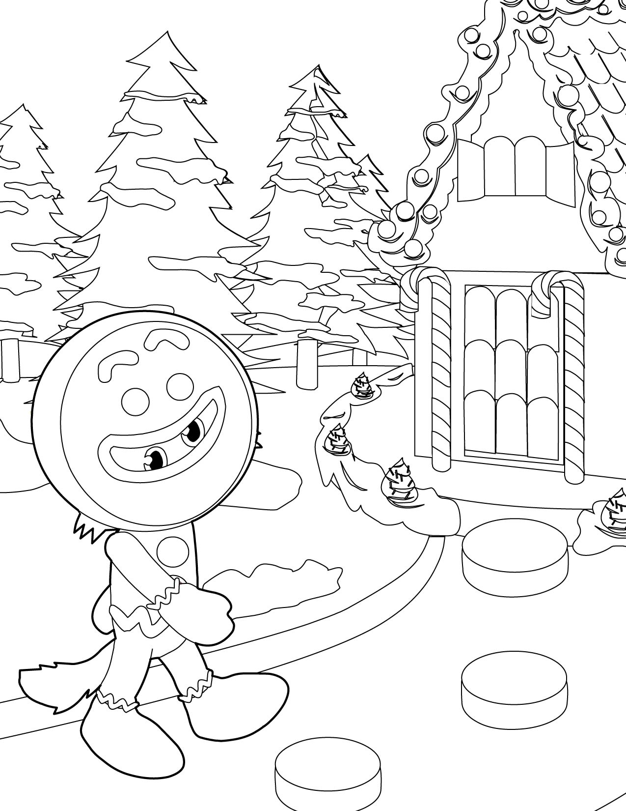 gingerbread house colouring pages gingerbread house coloring page with images christmas pages gingerbread house colouring