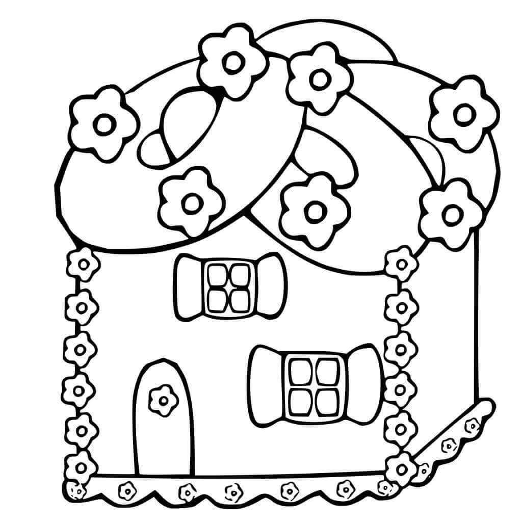 gingerbread house colouring pages printable gingerbread house coloring pages for kids gingerbread colouring house pages