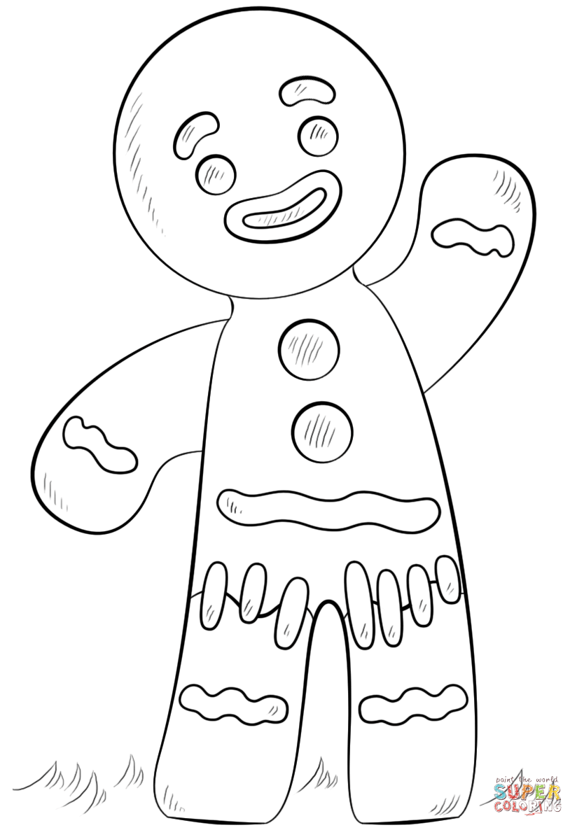 gingerbread man coloring pictures ginger man coloring page coloring home gingerbread coloring pictures man