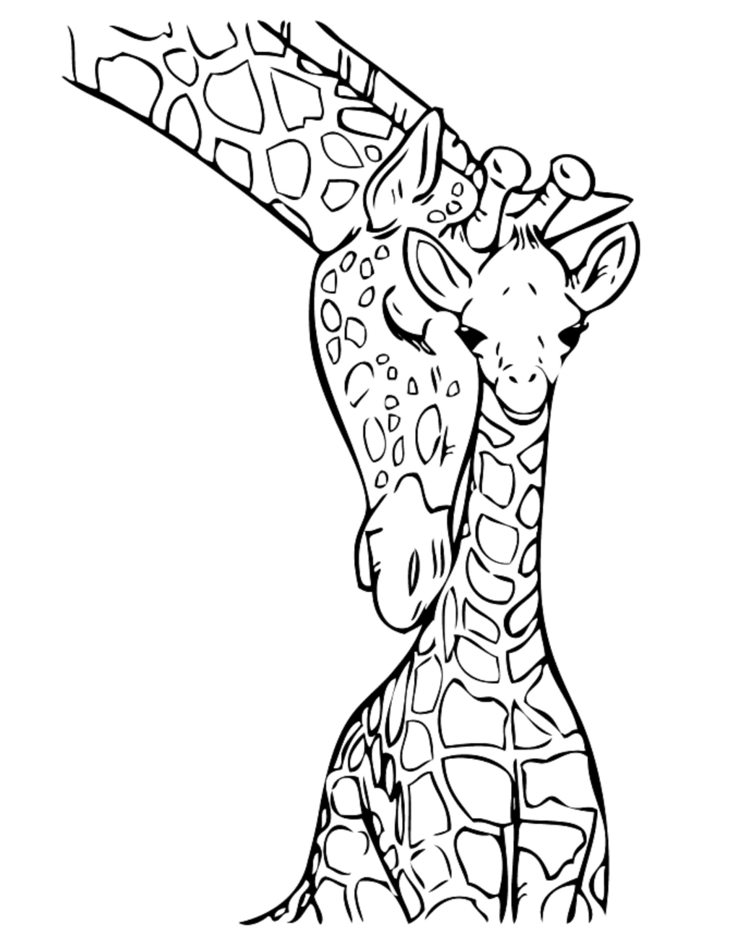 giraffe coloring pages giraffes coloring pages to download and print for free giraffe coloring pages