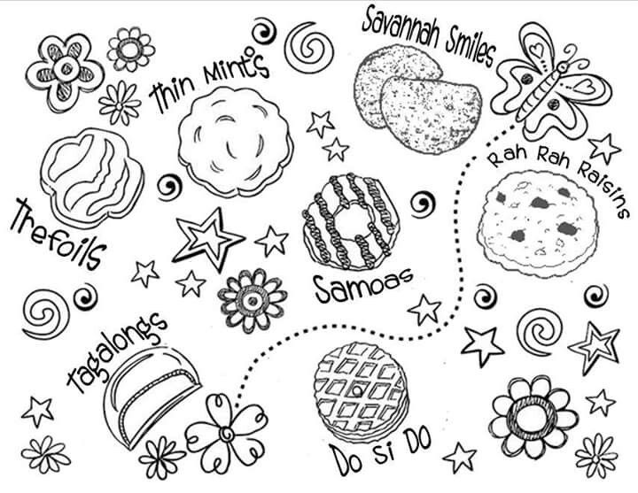 girl scout cookies coloring pages girl scout cookie drawing at getdrawings free download pages coloring cookies girl scout