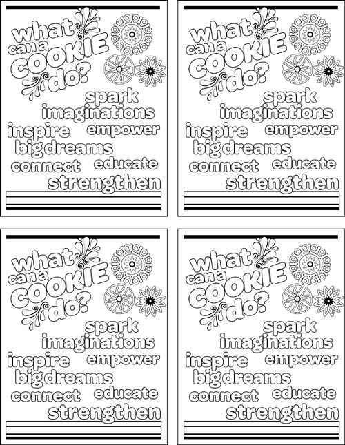 girl scout cookies coloring pages it39s girl scout cookie time coloring page free printable girl cookies scout coloring pages