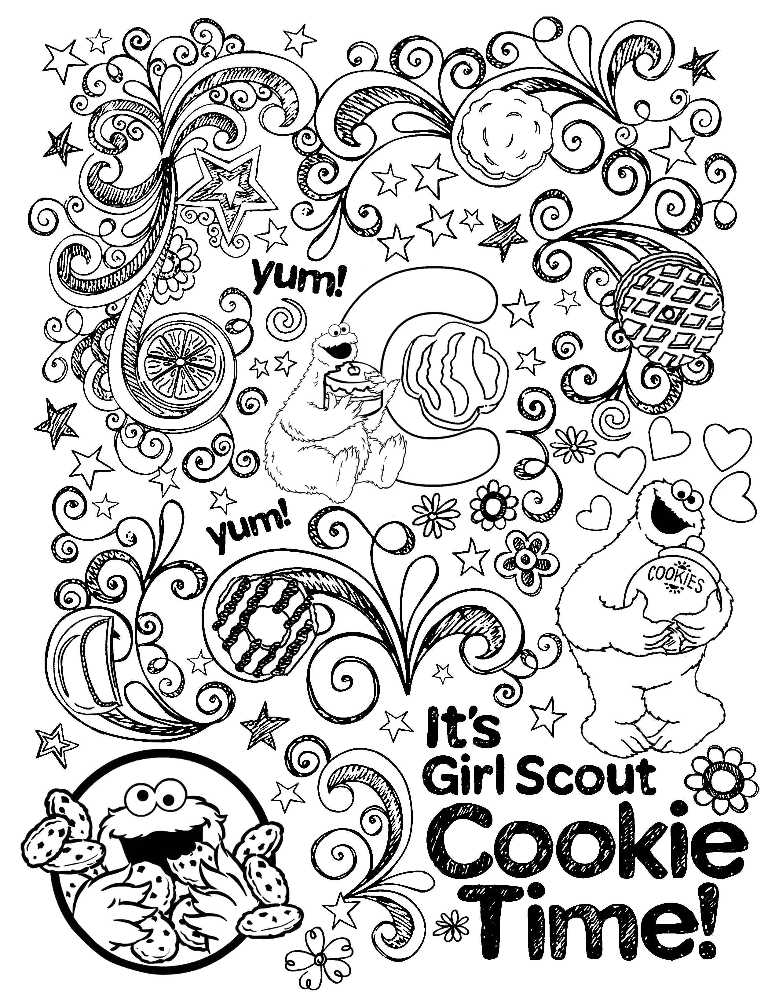 girl scout cookies coloring pages pinterest discover and save creative ideas cookies pages coloring scout girl