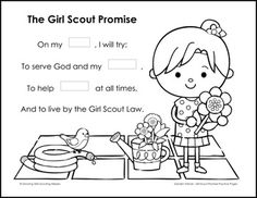 girl scout promise coloring page girl scout pledge coloring page great when they earn the promise scout girl coloring page