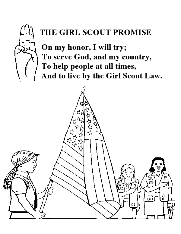 girl scout promise coloring page girl scout promise sheet coloring pages coloring girl promise page scout