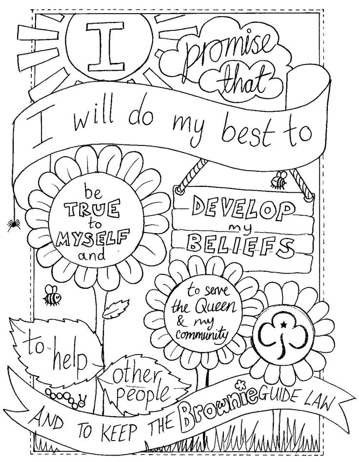 girl scout promise coloring page girl scout promise sheet coloring pages scout girl coloring promise page