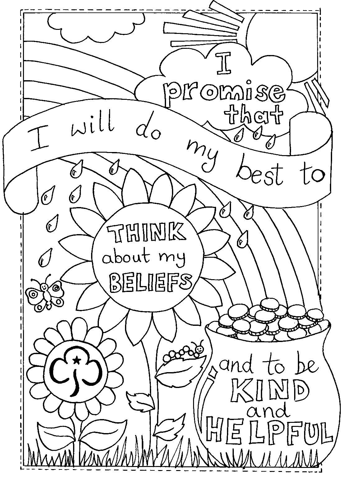 girl scout promise coloring page the 25 best ideas for girl scout coloring pages with scout girl promise page coloring