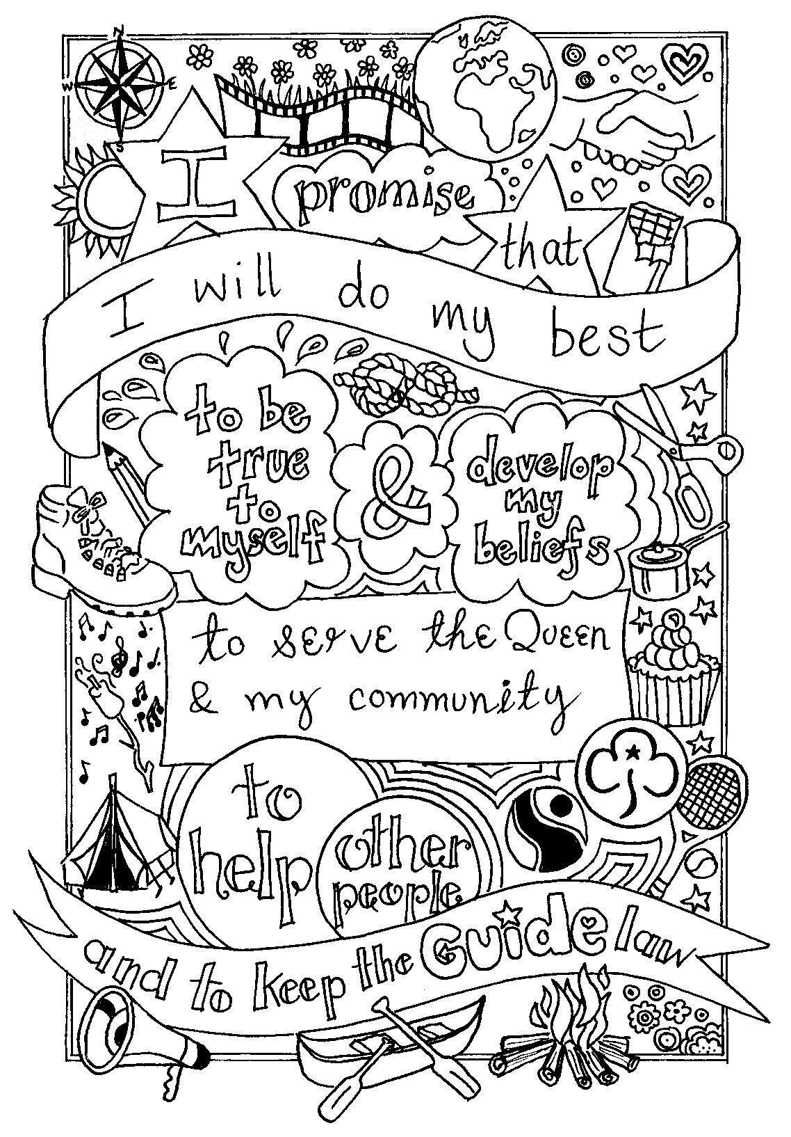 girl scout promise coloring page the girl scout promise coloring page twisty noodle promise page girl coloring scout