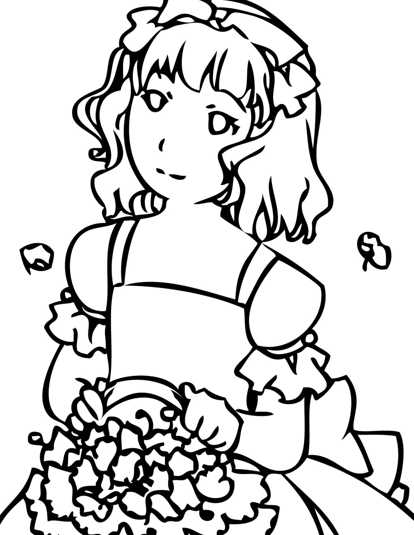 girls coloring pages detailed coloring pages for girls at getcoloringscom girls pages coloring