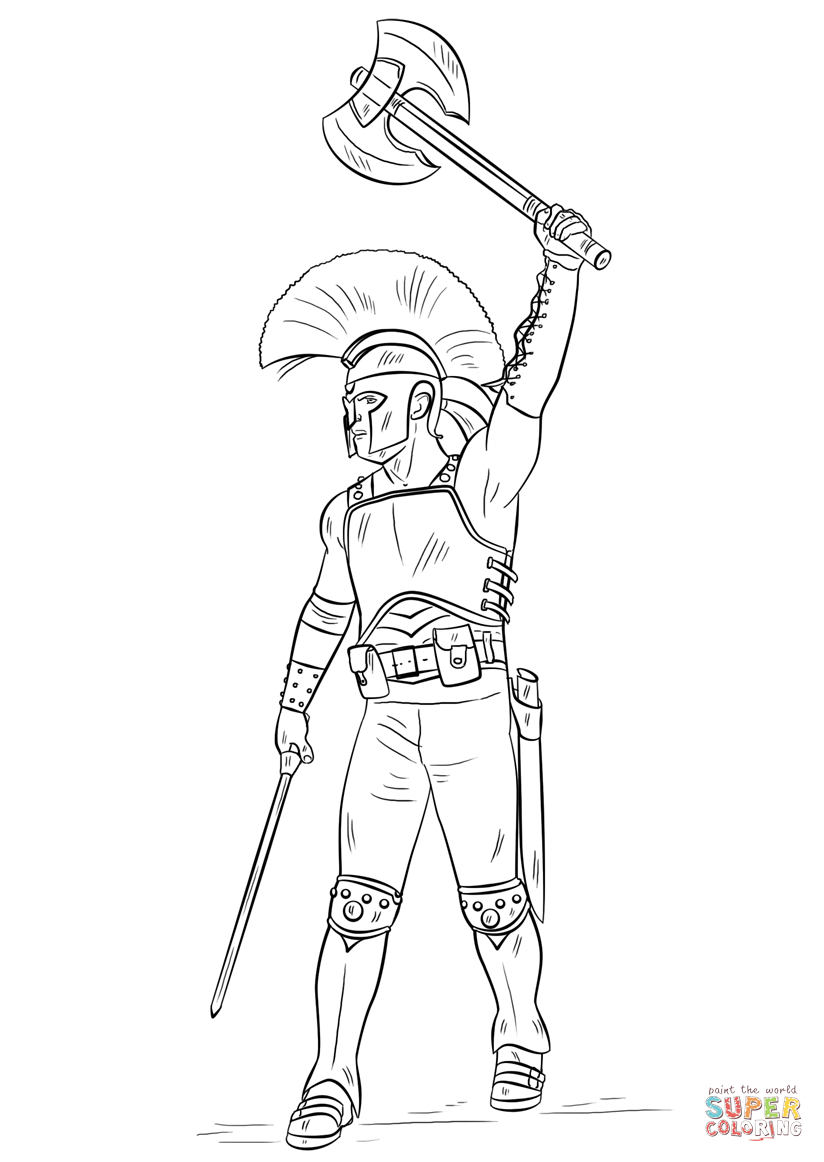 gladiator pictures to colour in gladiator coloring page at getcoloringscom free colour gladiator in pictures to