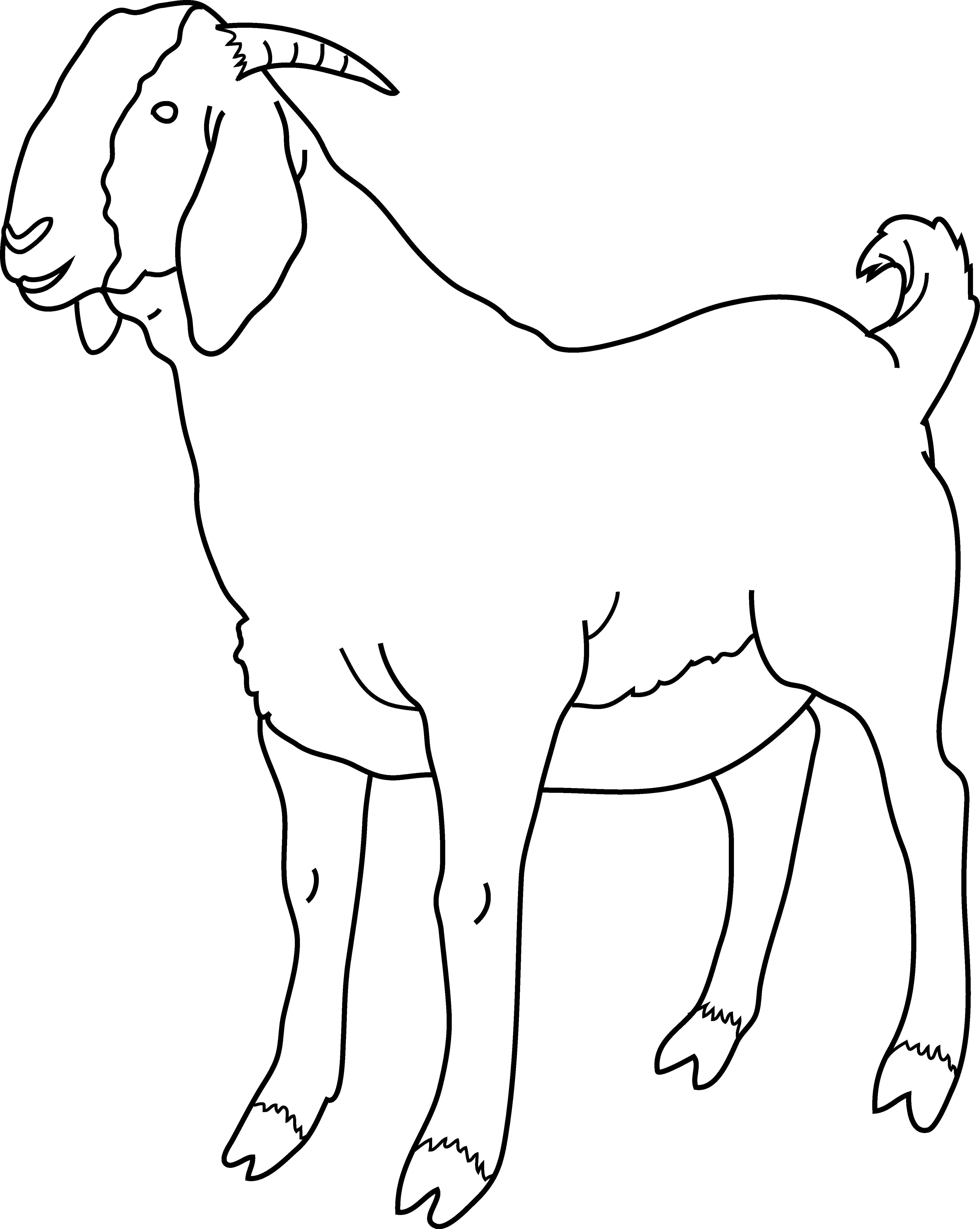 goat coloring images free printable goat coloring pages for kids coloring goat images