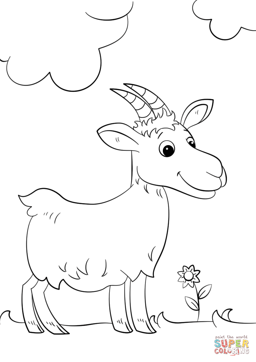goat coloring images goat coloring pages coloring pages to download and print coloring goat images