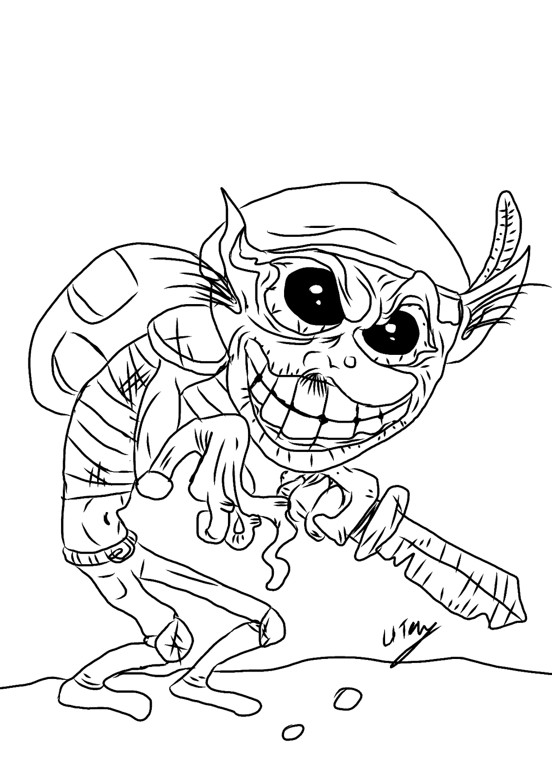 goblin pictures to color goblin coloring pages at getcoloringscom free printable goblin to pictures color