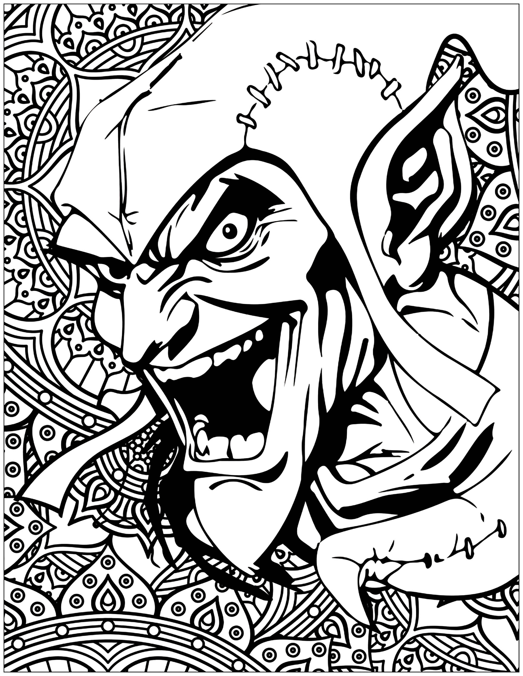 goblin pictures to color green goblin coloring page at getcoloringscom free pictures color to goblin