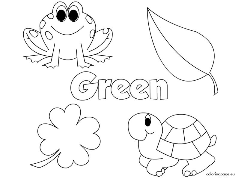 green coloring pages green coloring pages at getdrawingscom free for pages green coloring