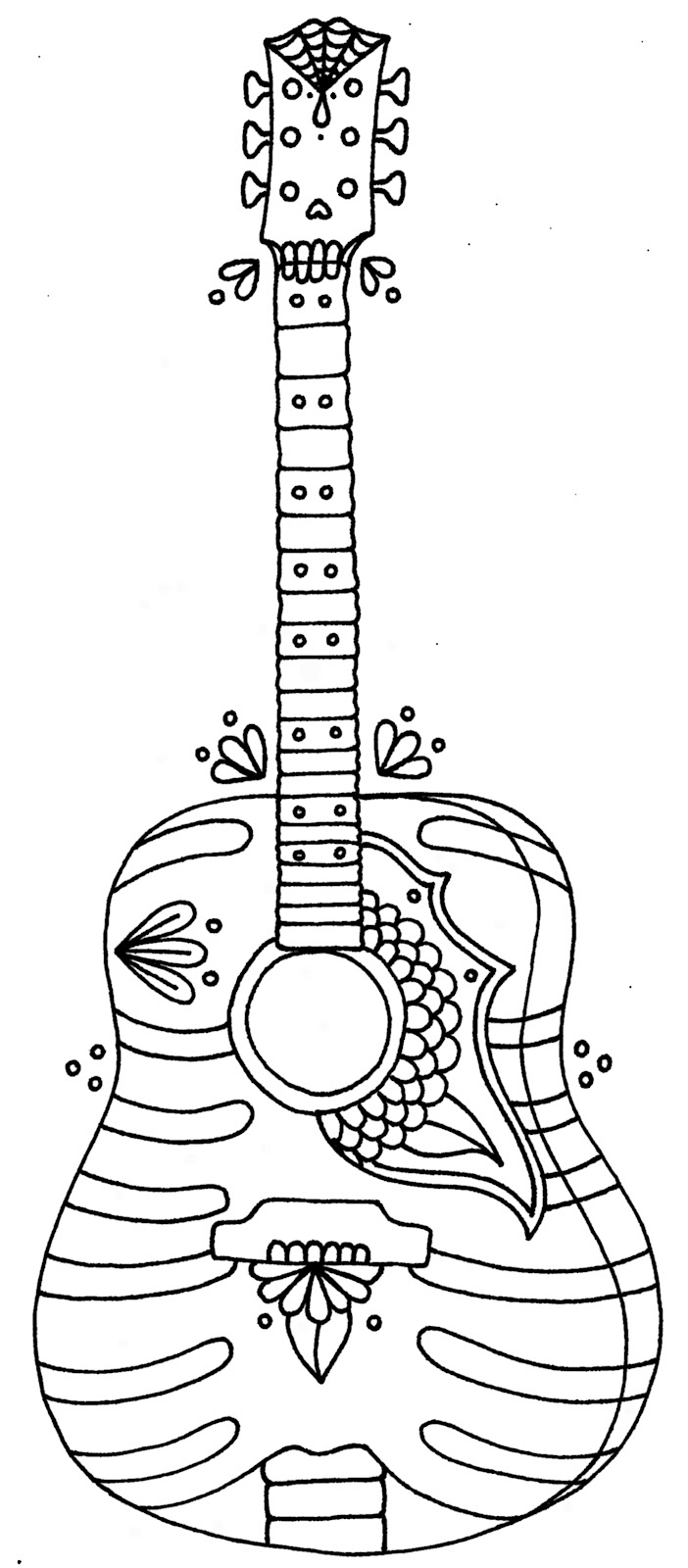 guitar coloring picture acoustic guitar coloring pages at getcoloringscom free guitar picture coloring