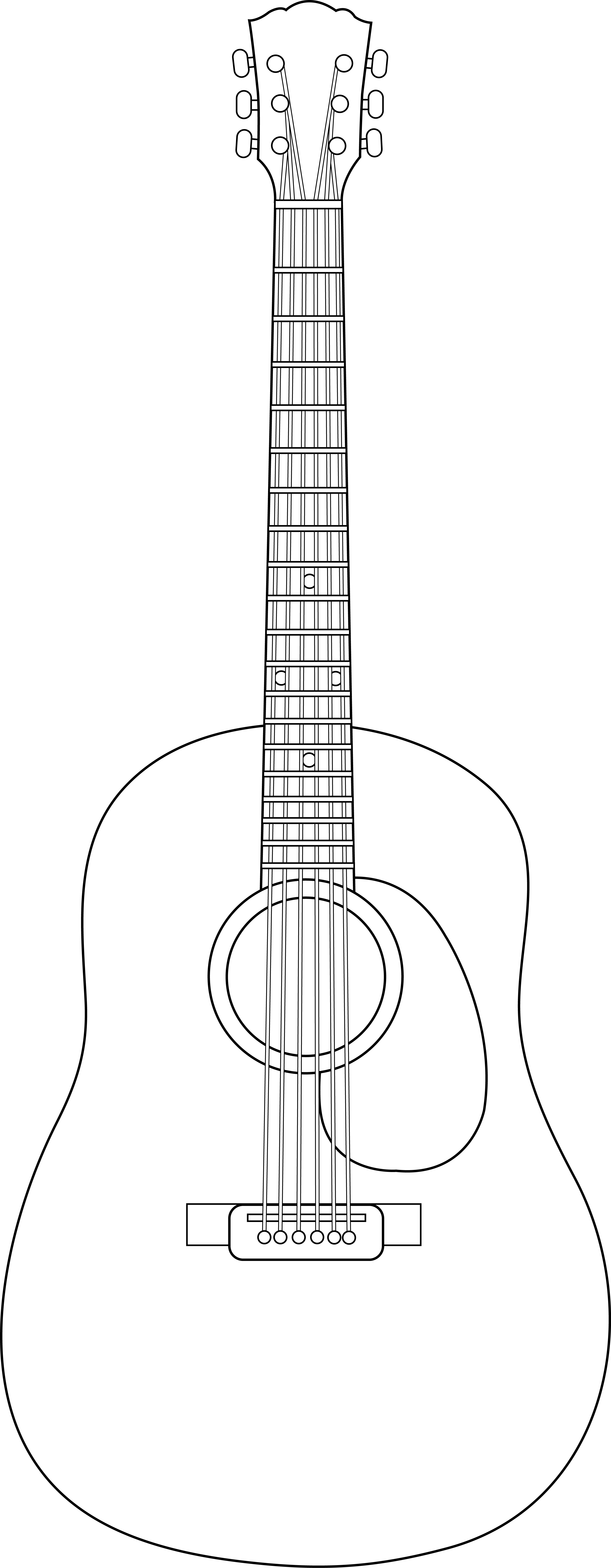 guitar coloring picture colorable guitar line art free clip art guitar coloring picture