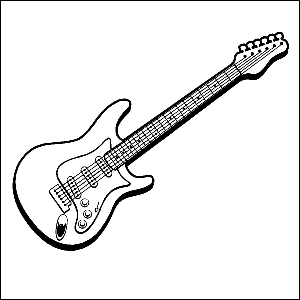 guitar coloring picture electric guitar outline drawing at getdrawings free download coloring guitar picture