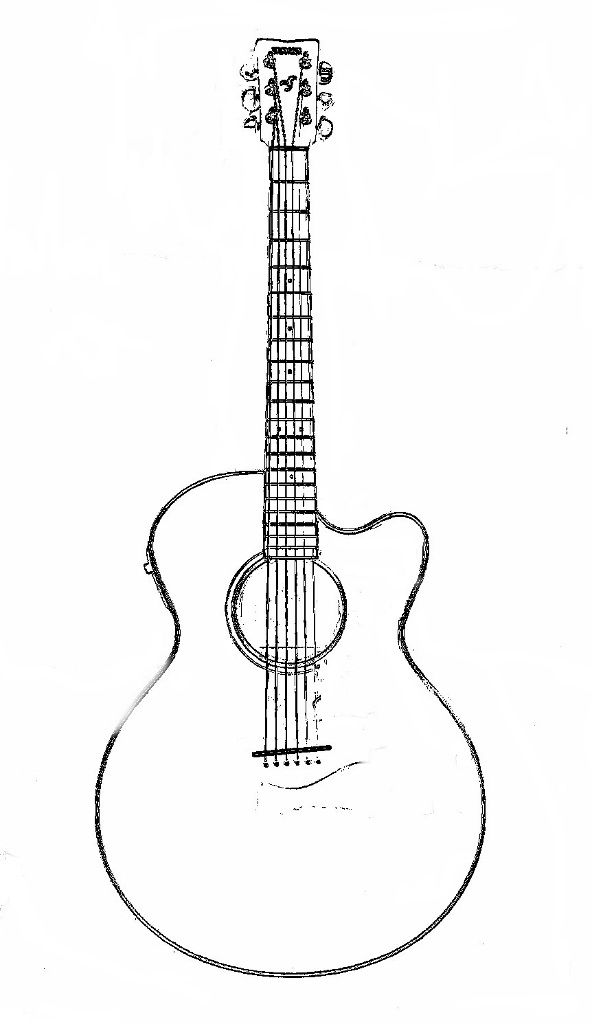 guitar coloring picture guitar coloring pages Çizimler suluboya guitar coloring picture